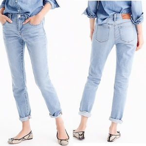 J. Crew Broken in boyfriend jeans raw hem 29T